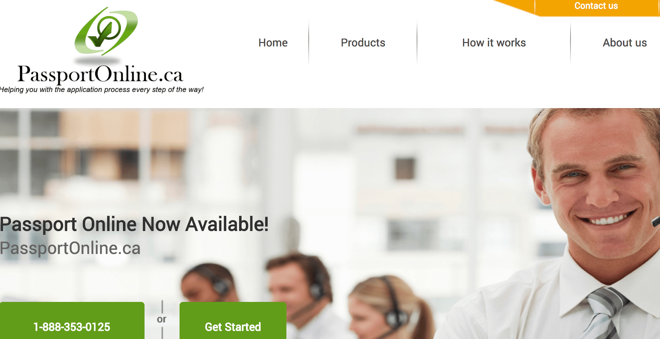 This fraudulent website says it will help you get a Canadian Passport online