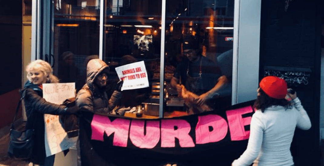 Toronto Chef trolls vegan activists protesting outside his restaurant