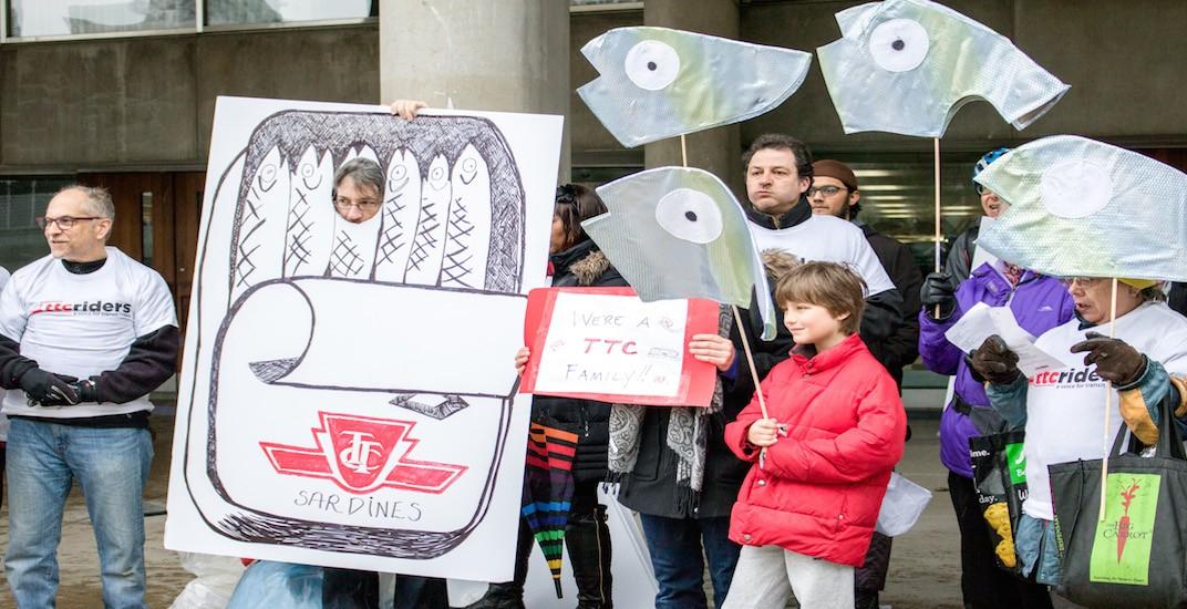 TTC advocates hosted a 'Sardine Ride' ahead of provincial budget (PHOTOS)