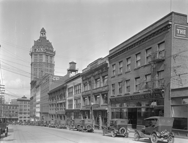 Beatty street Dunsmuir 1927 vancouver