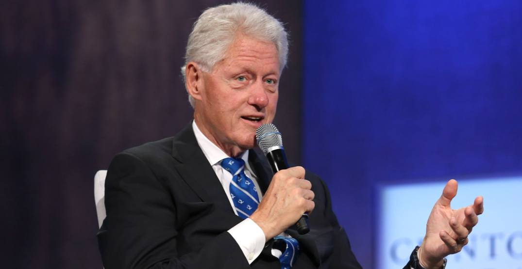 Former president Bill Clinton is coming to Vancouver