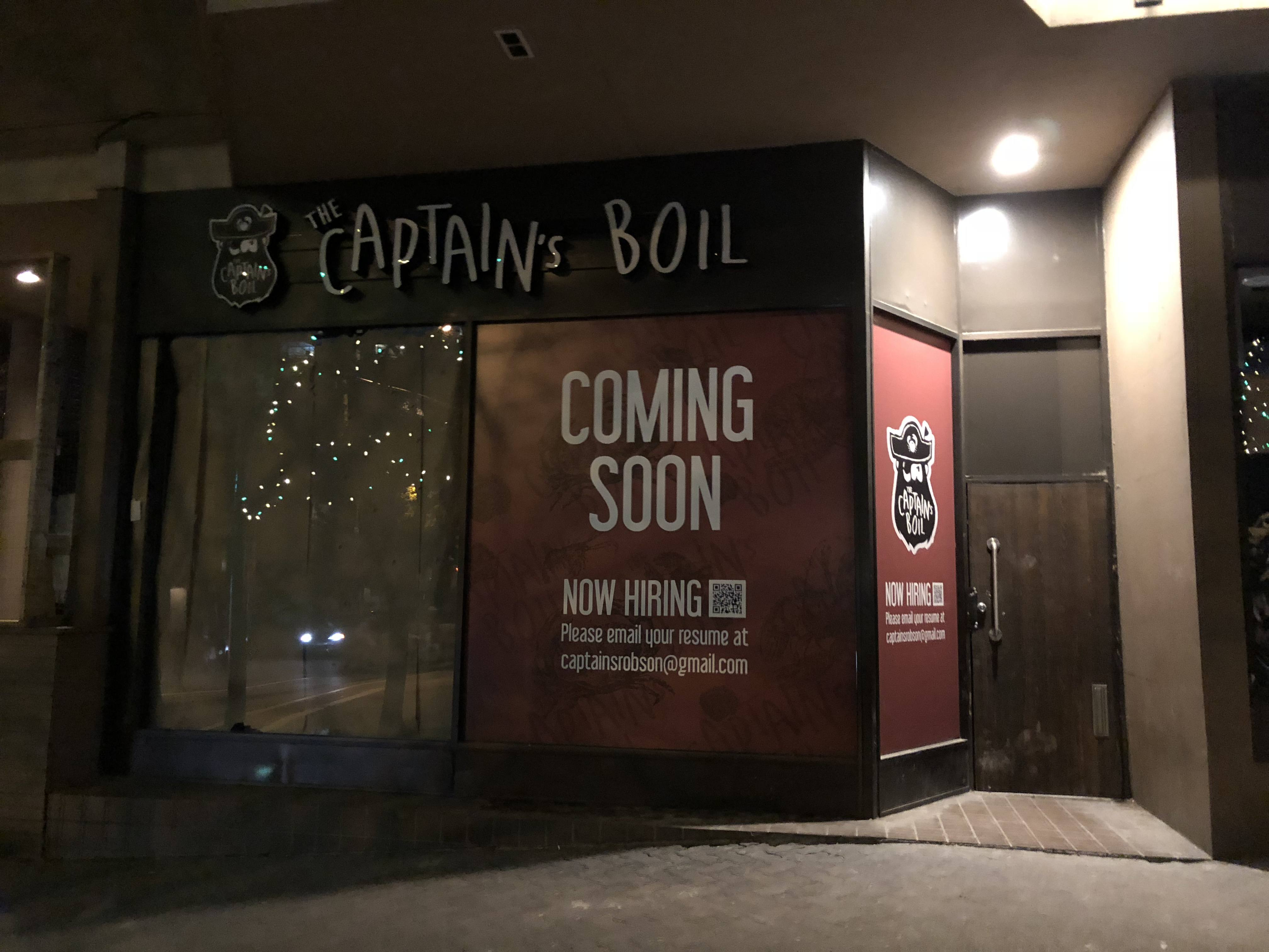 Captain's Boil new locations in BC