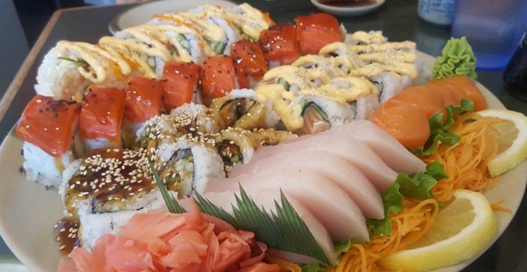 Get bulk platters of cheap sushi at this spot in Metro Vancouver