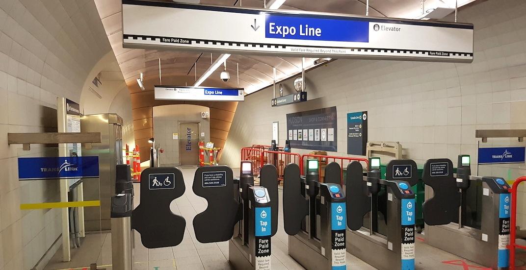 Skytrain granville station dunsmuir entrance 1