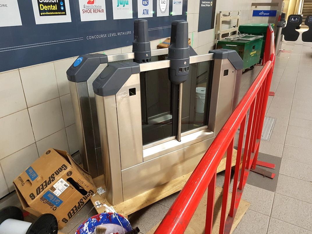 SkyTrain Granville Station Fare Gates