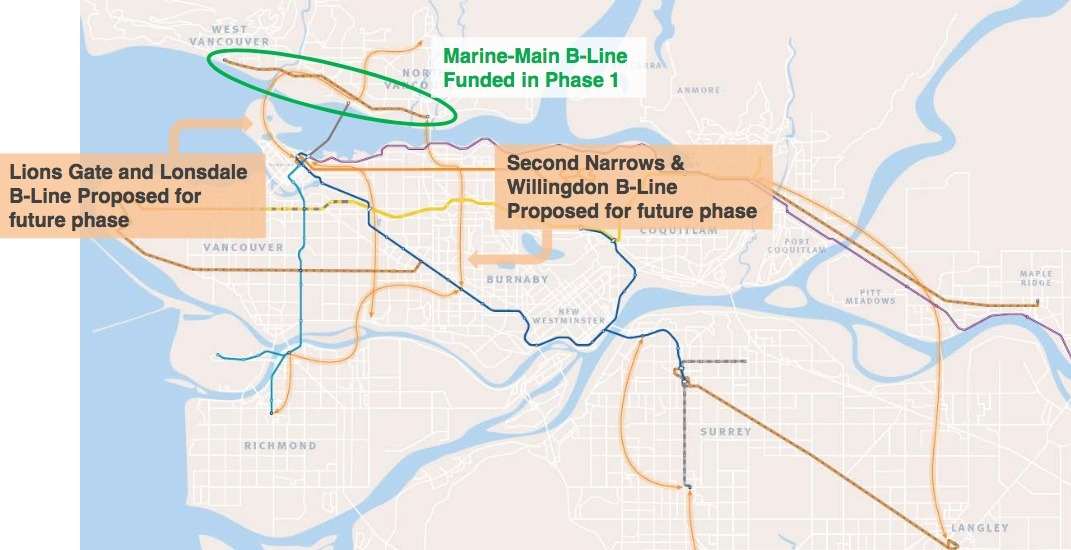 6 more B-Line rapid bus routes planned by TransLink