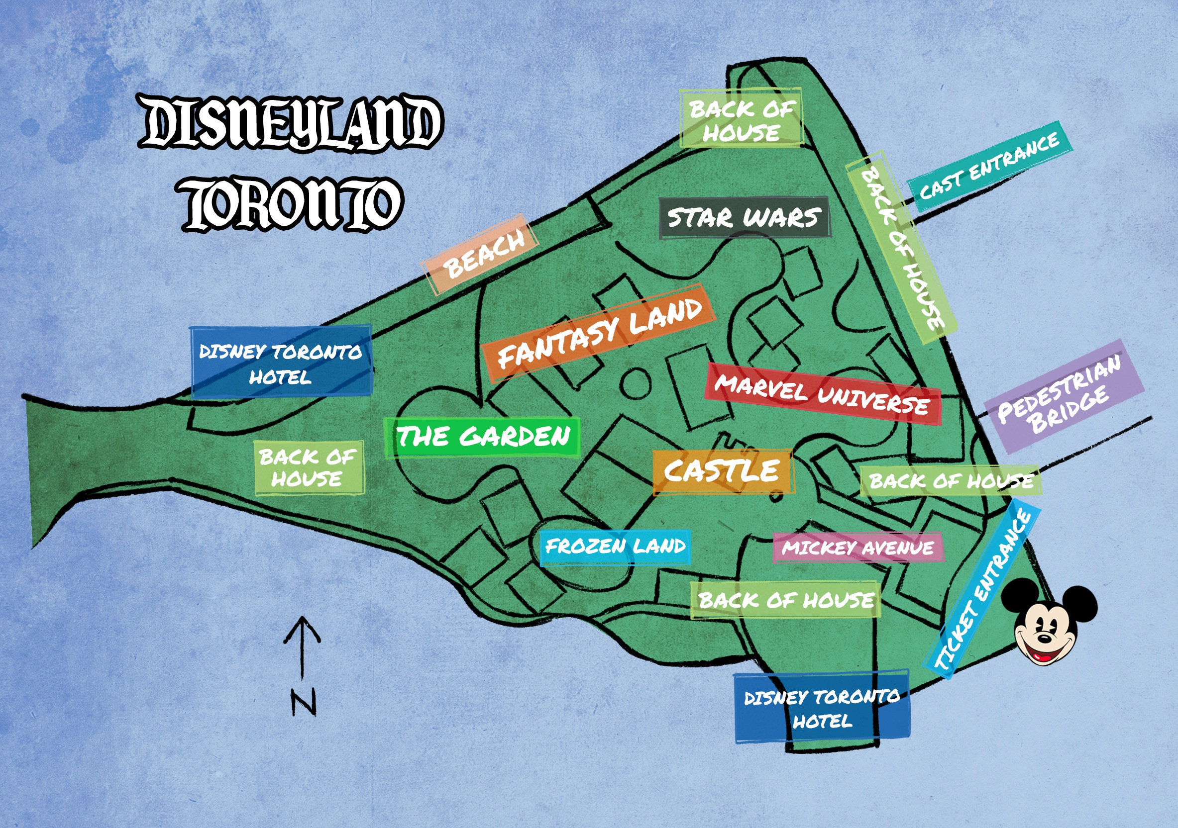Map Of Canadas Wonderland 2017.Disney Announces Massive 6 5 Billion Disneyland Resort For Toronto