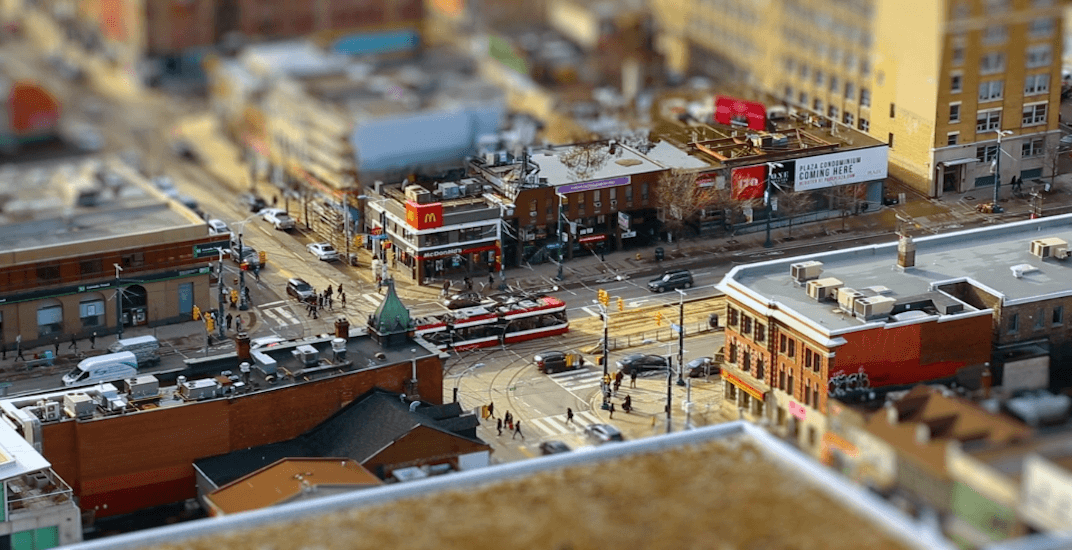 Incredible video shows Toronto operating as a tiny toy town