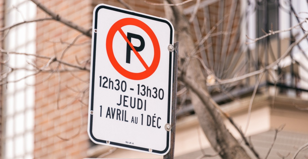 New parking restrictions are now in effect in Montreal