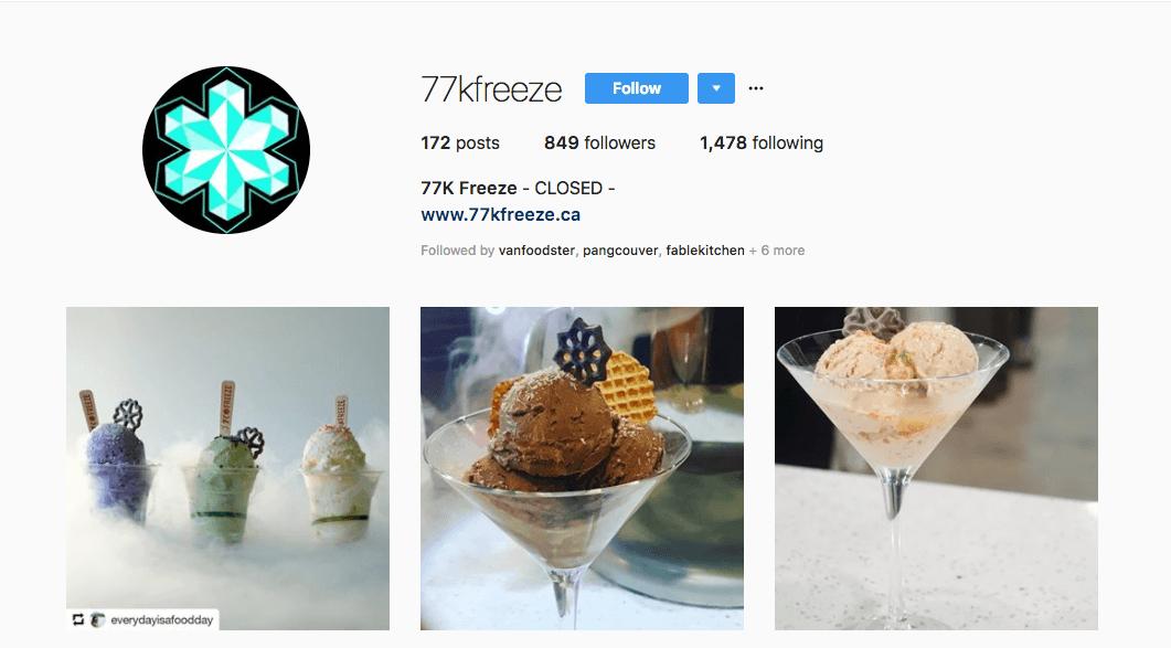77k Freeze Closed frozen treats