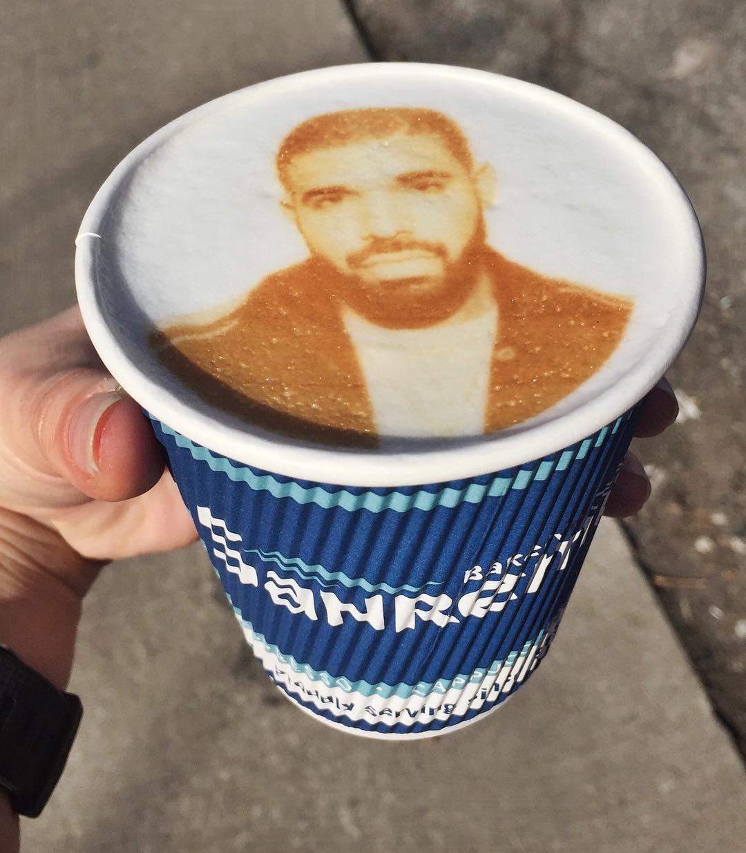 printed latte drake