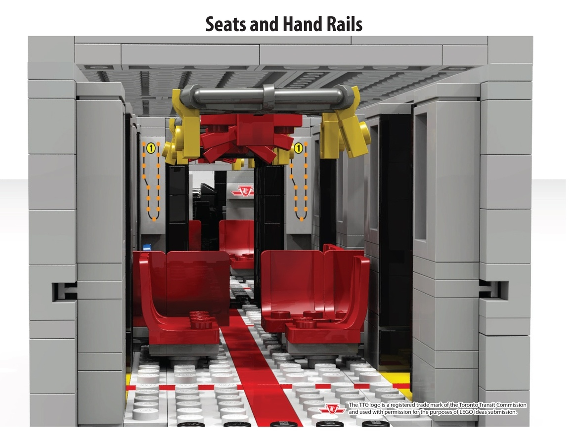 Lego TTC Subway car