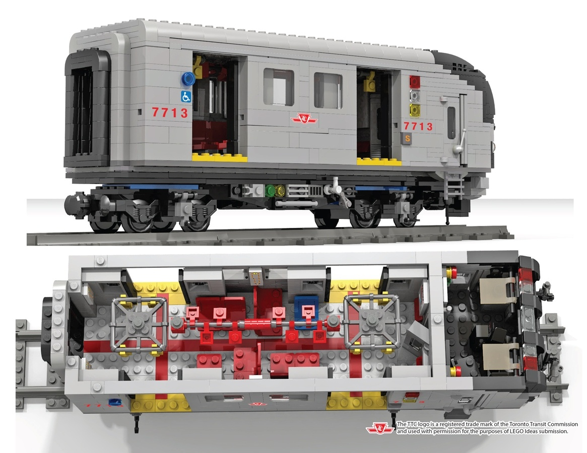 Lego TTC Subway car