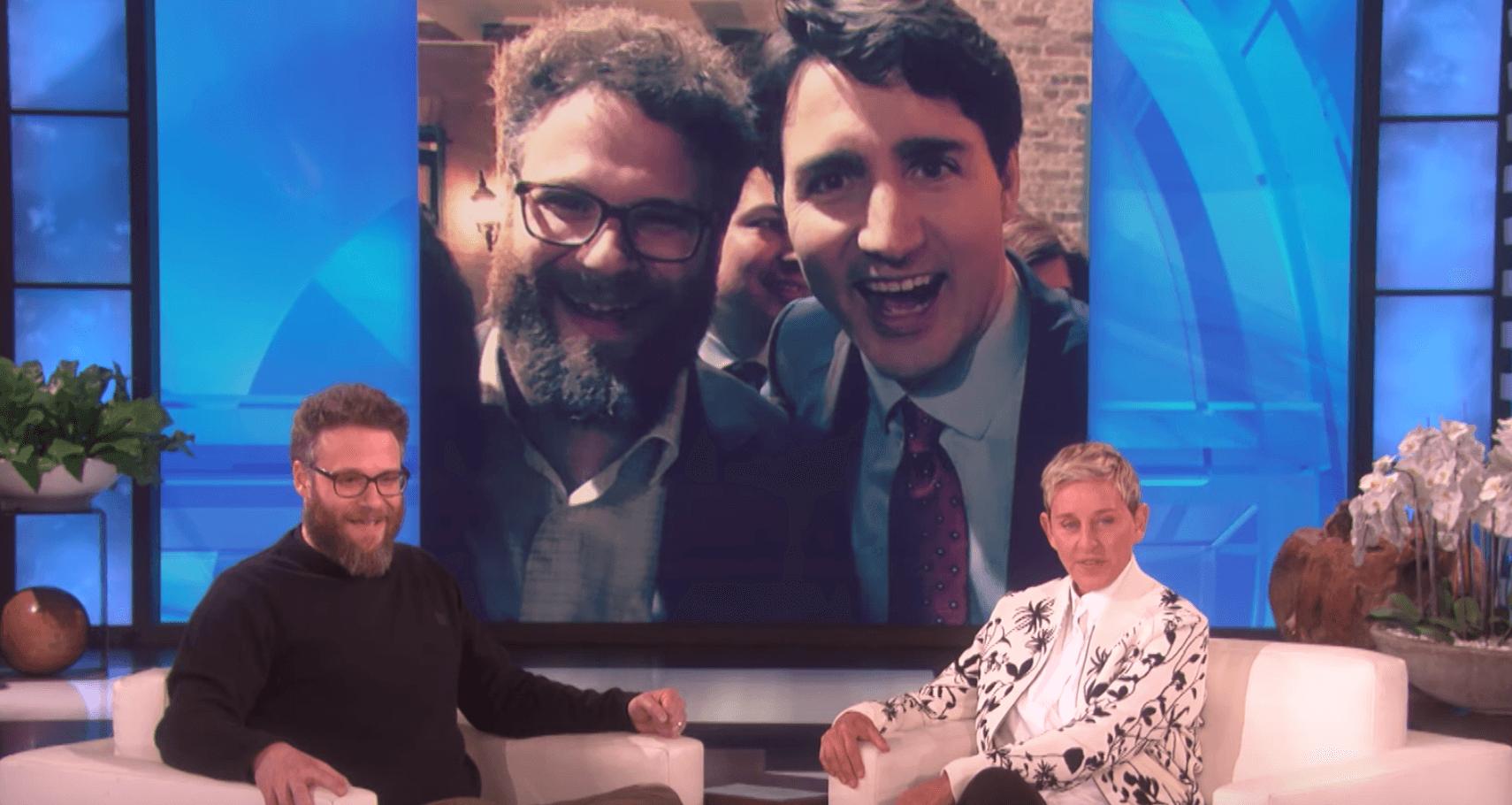 Seth Rogen Justin Trudeau