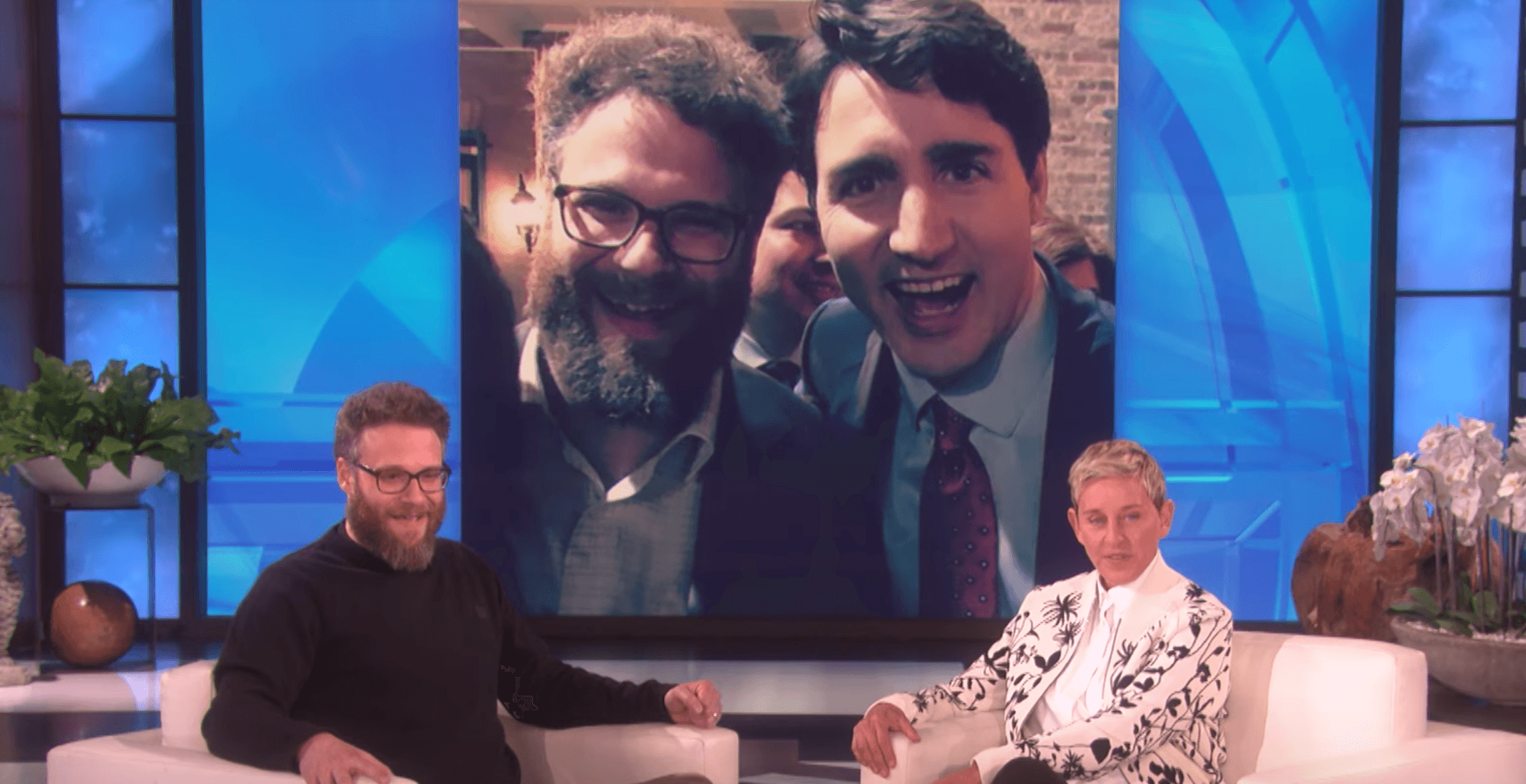 Seth Rogen tells Ellen the difference between meeting Obama vs. Trudeau (VIDEO)