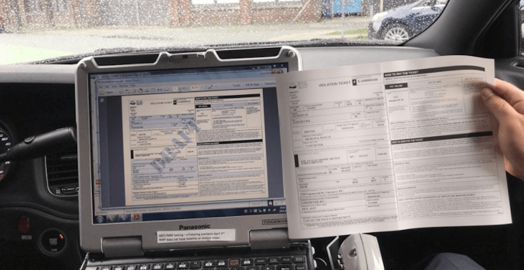 Vancouver Police launch roadside electronic ticketing program