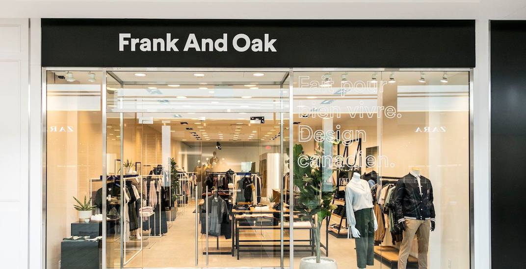 Frank And Oak opening their 3rd Metro Vancouver store this week