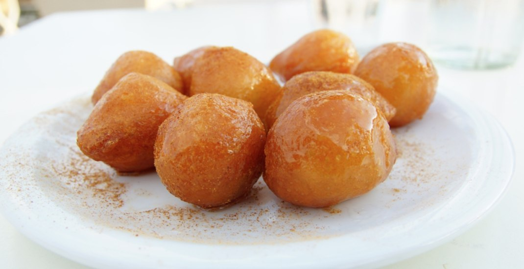 This newly opened cafe specializes in Greek doughnuts