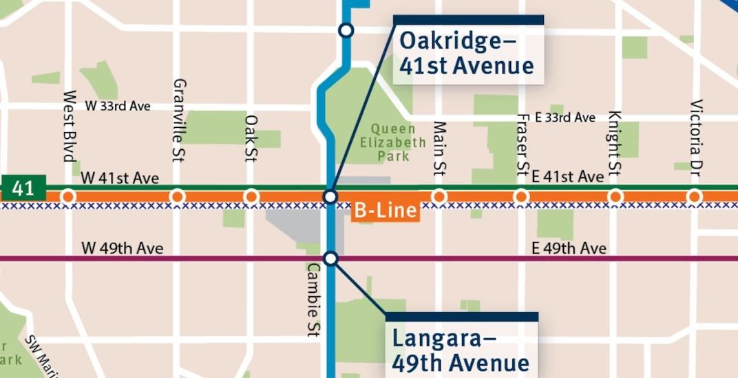 41st avenue b line f