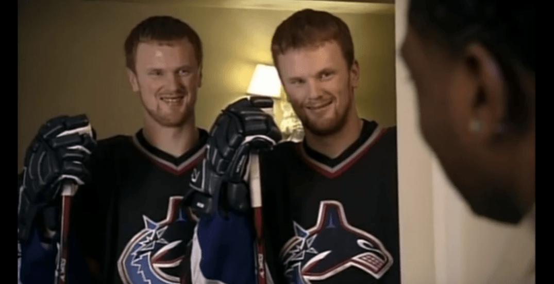 Swedish twins sedin commercial