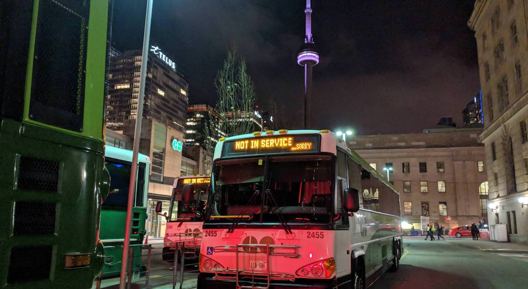 FYI: Buses all across Canada apologize when they're not working (PHOTOS)