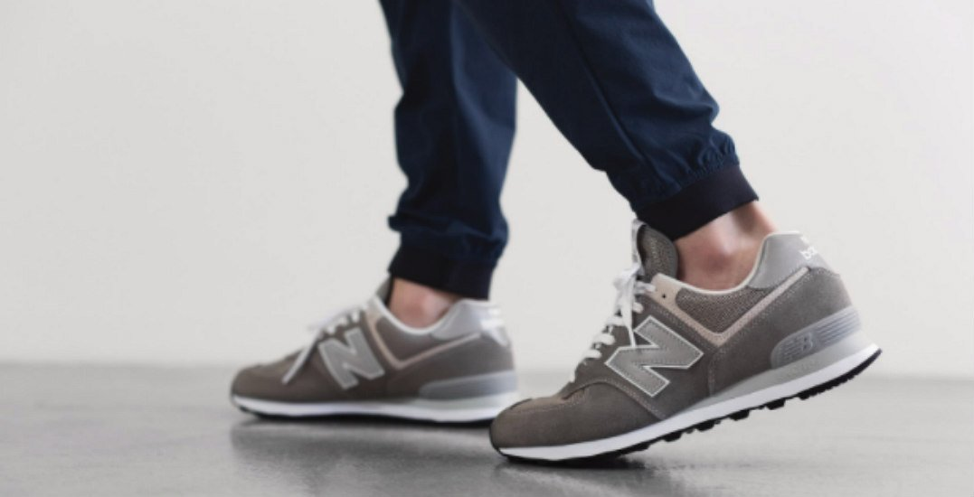 Win a pair of New Balance 574 sneakers for you and a pair for your friend