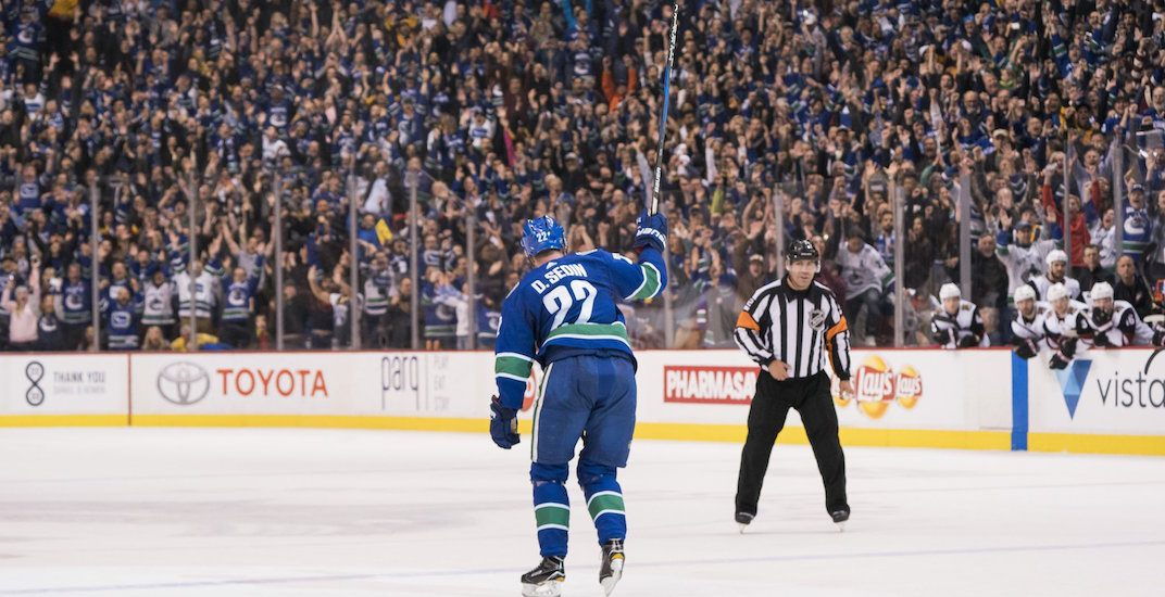 50ddfe1f0 Sedins end magical final home game with OT winner for Canucks (VIDEO ...