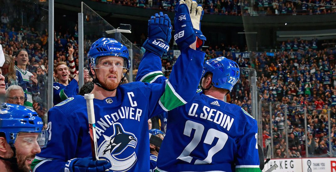 Sedins are playing in a soccer game at BC Place next month