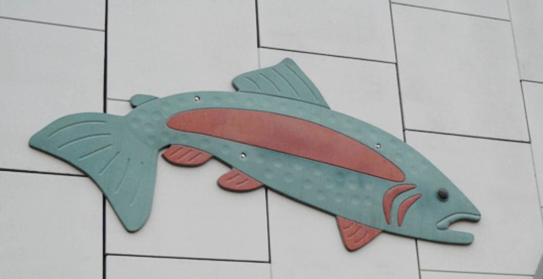 Calgary Public Art: The Glenmore Underpass Jumping Trout (PHOTOS)