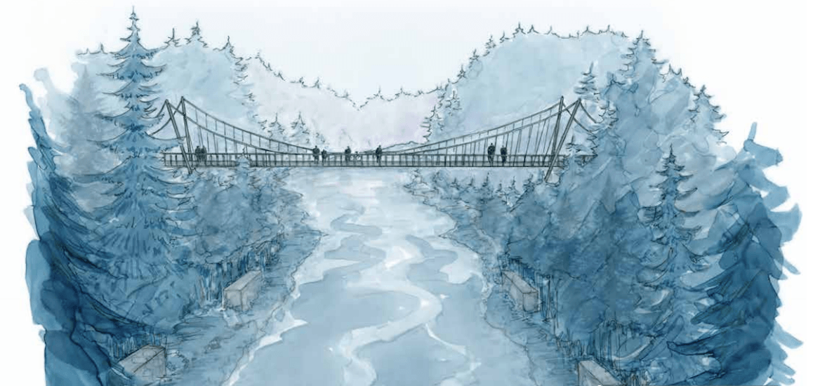 The Seymour River is getting a new pedestrian bridge soon (RENDERINGS)