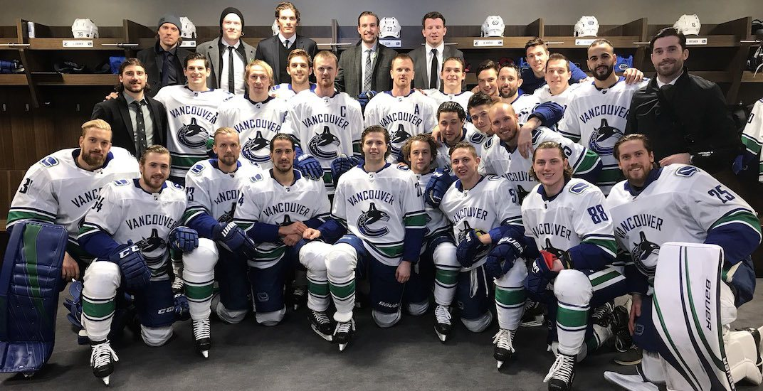 A group of Canucks players are visiting Humboldt this week