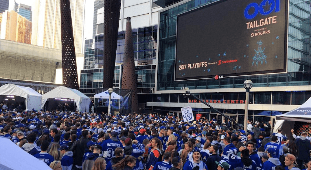 Leafs and the Raptors getting HUGE tailgate parties for playoffs