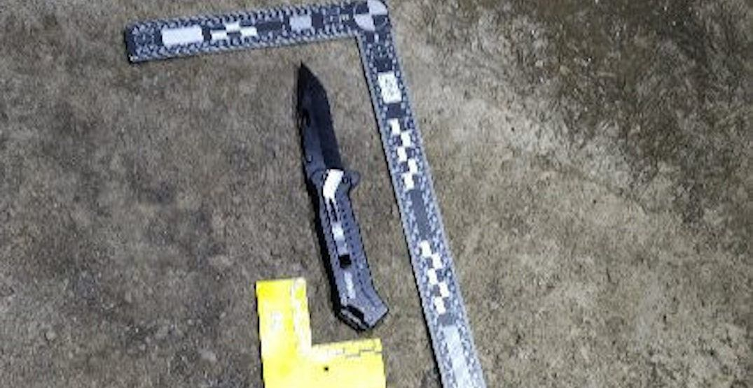 Knife found at the scene of officer-involved shooting in Bridgeland