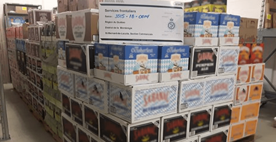 Canadian border agents seize 'significant' amount of beer at US-Quebec crossing