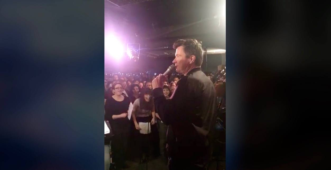 Rick Astley showed up at Choir! Choir! Choir! this week and it was amazing (VIDEO)