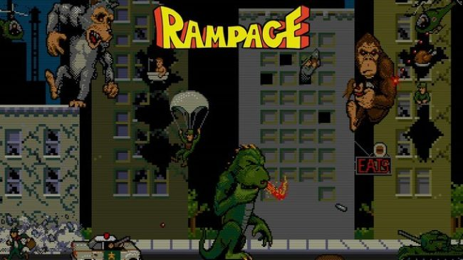 The Rampage movie is based on the 1986 arcade game.