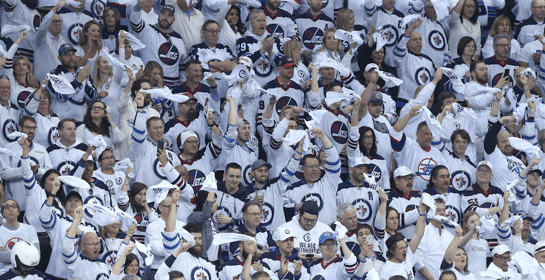 Winnipeg jets whiteout fans