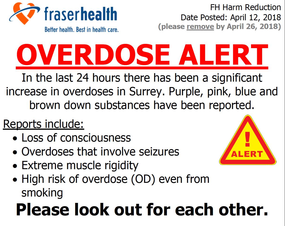 overdose surrey