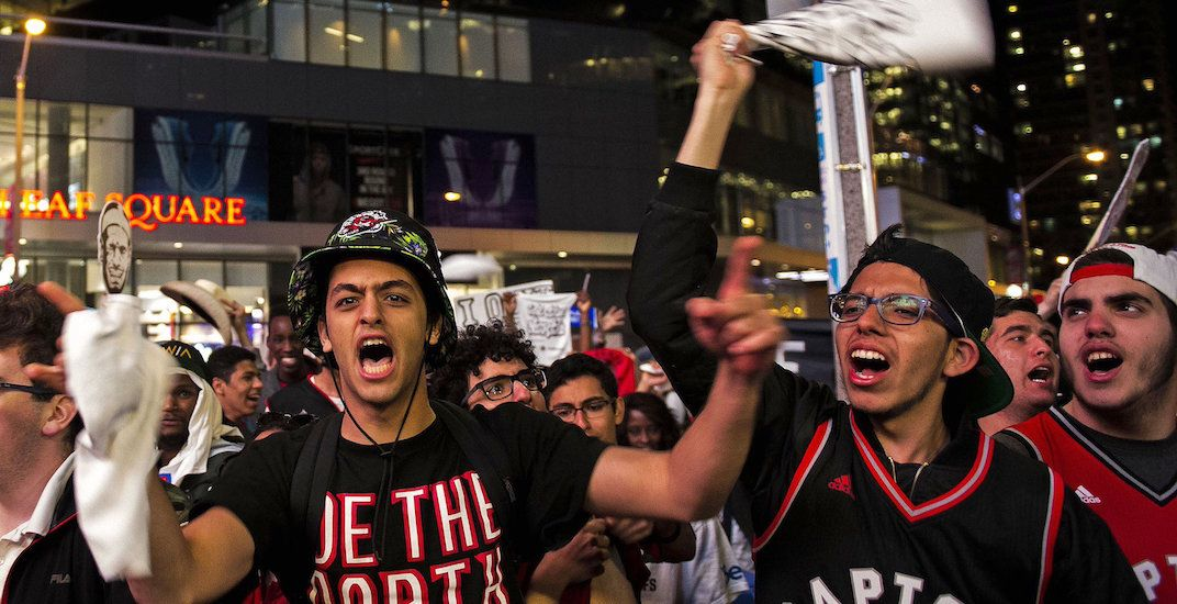 There's a huge tailgate party for the Raptors home opener this week
