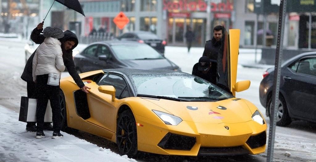 Lamborghini toronto ice storm 1