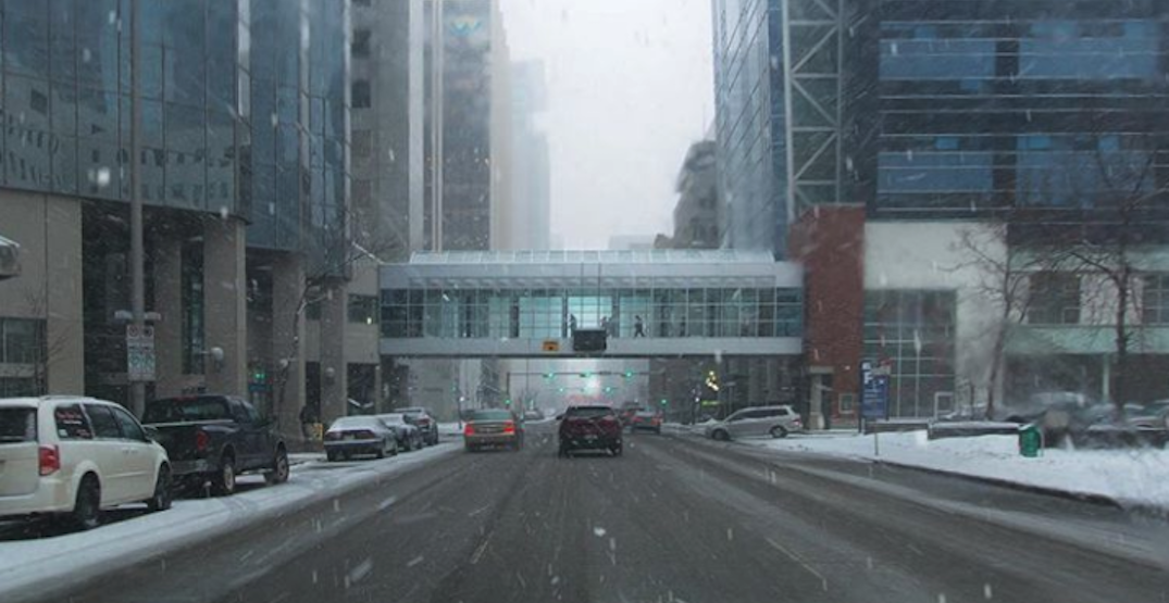 Surprise, surprise... a snowfall warning is in effect for Calgary