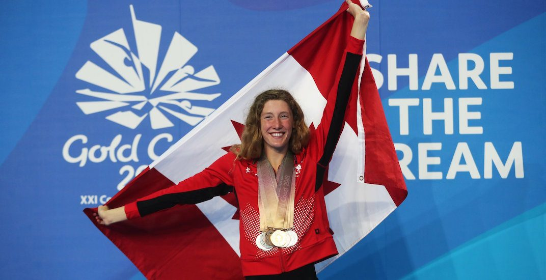 Canadian teenager Taylor Ruck ties Commonwealth Games medals record