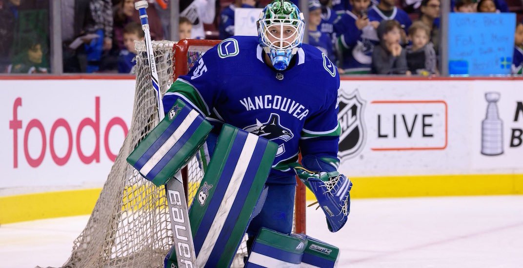 Thatcher Demko will play his first game of the season for Canucks tonight