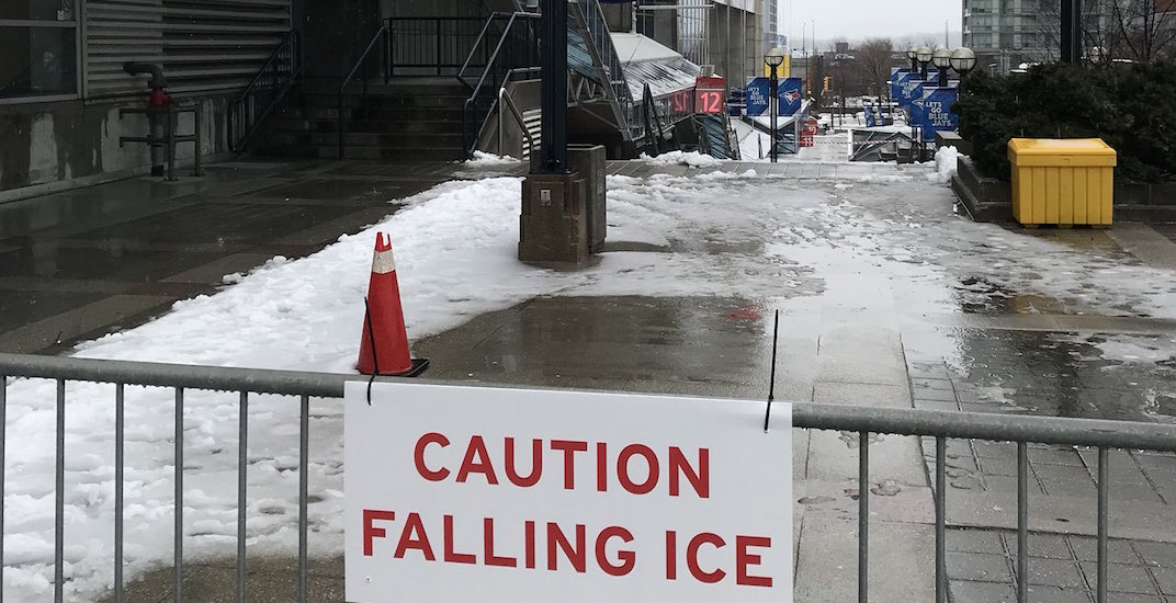 Blue Jays cancel game after damage caused by falling ice from CN Tower
