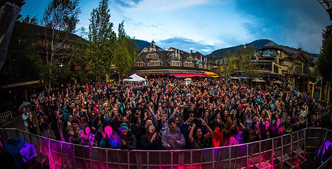 There's a massive free outdoor festival in Whistler this weekend