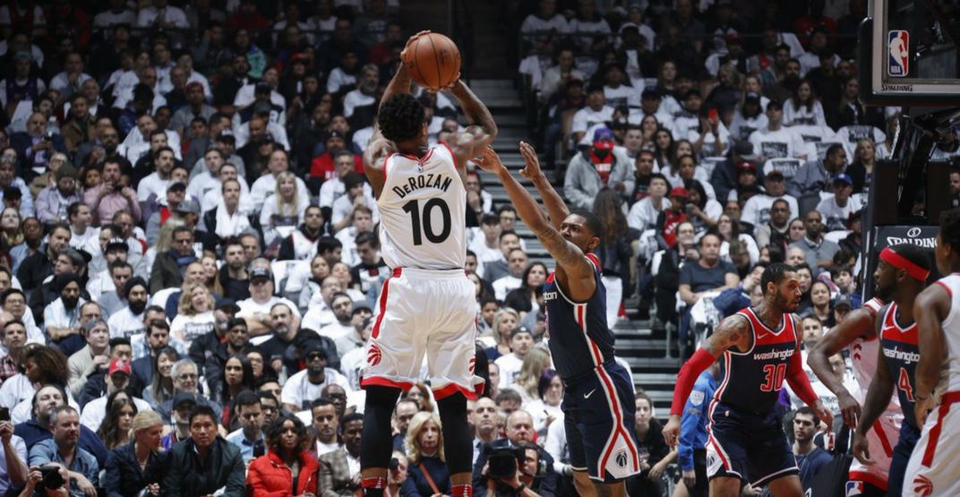 DeRozan ties playoff career-high in dominant Raptors win in Game 2