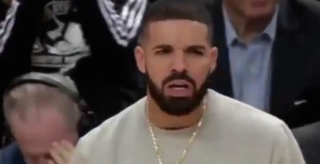Drake posts video of him trash-talking opponent during Raptors playoff game