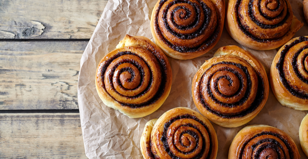 You can get FREE cinnamon buns in Toronto next week
