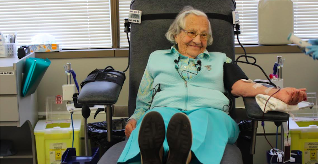This Metro Vancouver resident is Canada's oldest blood donor