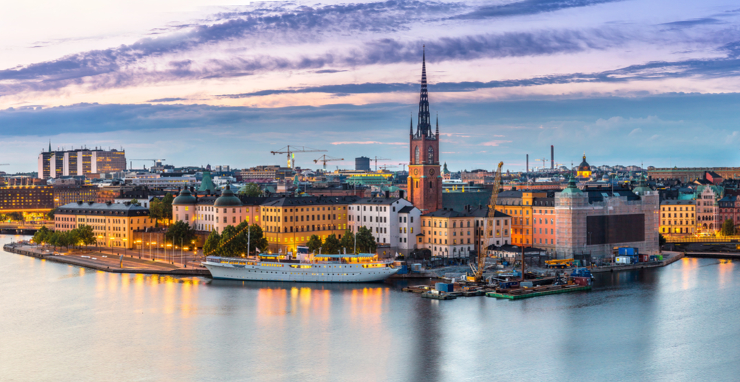 You can fly from Montreal to Stockholm, Sweden for $481 roundtrip
